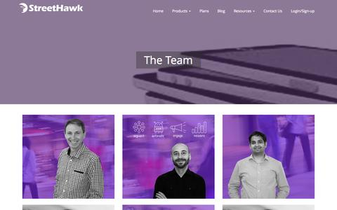 Screenshot of Team Page streethawk.com - The Team - StreetHawk - captured Sept. 29, 2015