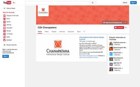 Screenshot of YouTube Page youtube.com - CIDI Chanapatana  - YouTube - captured Oct. 22, 2014
