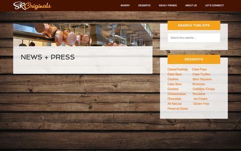 Screenshot of Press Page originaldesserts.com - News + Press - SRO - captured Dec. 1, 2015