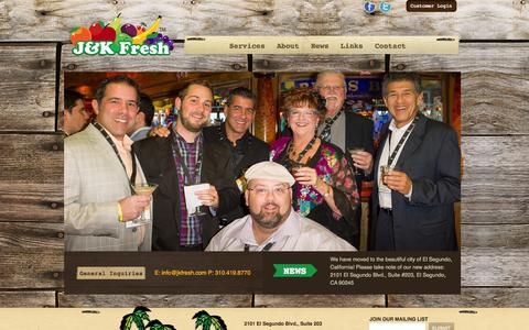Screenshot of Home Page jkfresh.com - J & K Fresh.J & K Fresh. - captured Sept. 1, 2015
