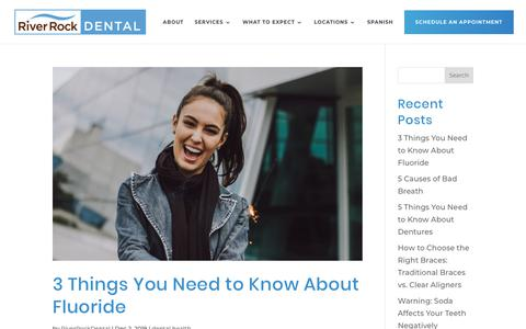 Screenshot of Blog riverrockdentalfamily.com - Blog | Family dentistry, orthodontics, and oral surgery | River Rock Dental | Austin, Texas - captured Dec. 14, 2019