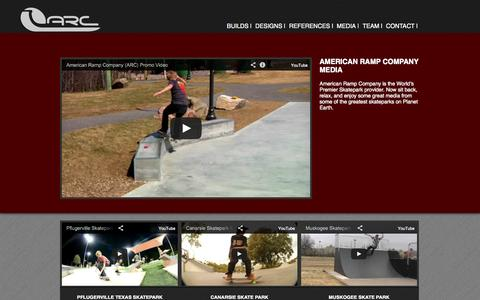 Screenshot of Press Page americanrampcompany.com - Media - American Ramp Company - Skatepark Builders and DesignersAmerican Ramp Company – Skatepark Builders and Designers - captured Sept. 30, 2014