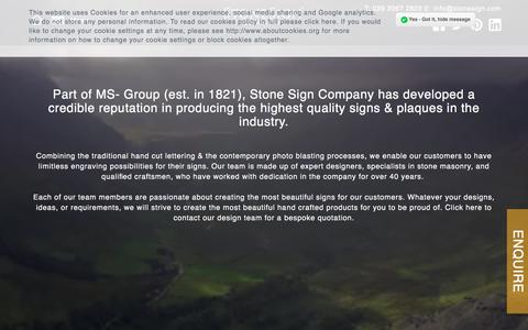 Screenshot of Team Page stonesign.com - A reputation for producing the highest quality stone signs signs - captured Oct. 25, 2017