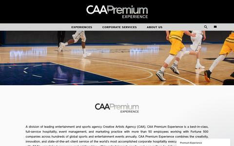 Screenshot of About Page caa.com - CAA Premium Experience - captured May 1, 2017
