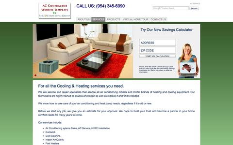 Screenshot of Services Page tropicalairsystems.com - AC Service  Services | Air Conditioning - captured Oct. 31, 2014