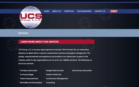 Screenshot of Services Page universaltx.com - UCS Group - captured Oct. 3, 2014