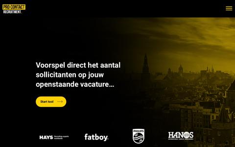 Screenshot of Home Page pro-contact.nl - Home - Pro Contact - captured Sept. 29, 2018
