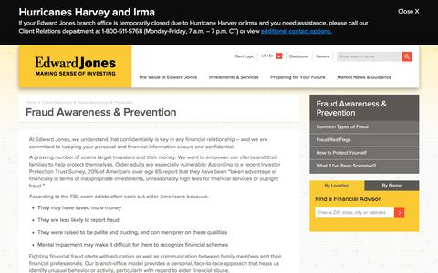 Fraud Awareness & Prevention | Edward Jones