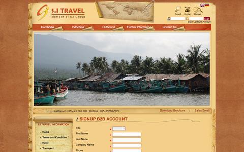 Screenshot of Signup Page sitravel.com.kh - SignUp B2B Account - captured May 25, 2017