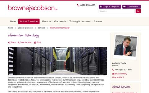 Screenshot of brownejacobson.com - Information technology | Browne Jacobson LLP - captured March 28, 2016
