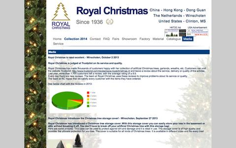 Screenshot of Press Page royalchristmas.com - Royal Christmas - Media - Press Release - captured Oct. 7, 2014
