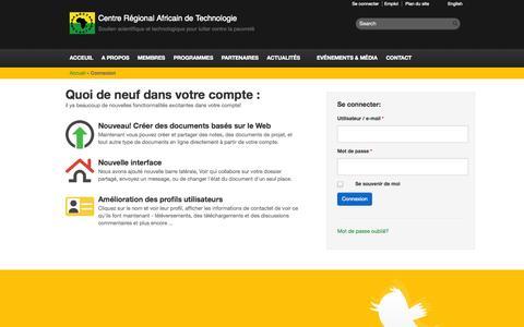 Screenshot of Login Page crat-arct.org - arct - Connexion - captured Oct. 4, 2014