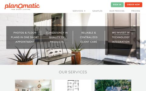 Screenshot of Services Page planomatic.com - PlanOmatic   Services - captured Nov. 16, 2018