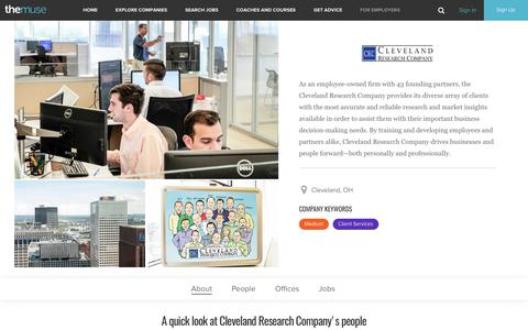 Cleveland Research Company | Careers