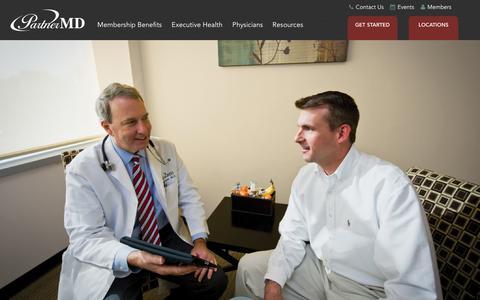 Screenshot of Home Page partnermd.com - Concierge Medicine | Personalized Medicine | PartnerMD - captured July 19, 2015