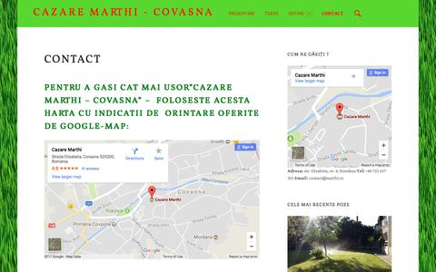 Screenshot of Contact Page marthi.ro - Contact – Cazare Marthi - Covasna - captured Oct. 17, 2017