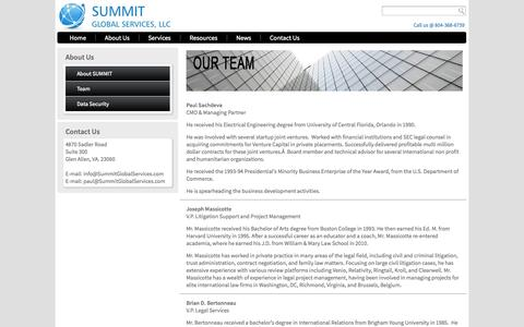 Screenshot of Team Page summitglobalservices.com - Our Team of experts | - captured Oct. 7, 2014