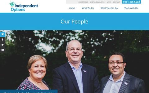 Screenshot of Team Page independentoptions.org.uk - Our People - Independent Options (North West) - captured Nov. 26, 2016