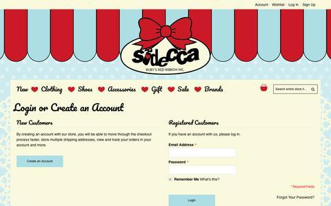 Screenshot of Login Page sidecca.com - Customer Login - captured June 13, 2017