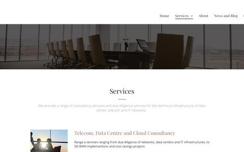 Screenshot of Services Page telenology.net - Telenology - depth of knowledge of Telecomations , Data centers and Cloud  Computing - captured Dec. 11, 2018