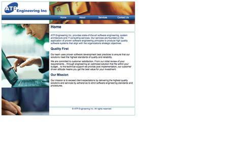 Screenshot of Home Page atpeng.com - ATP Engineering Inc. - captured Feb. 5, 2016