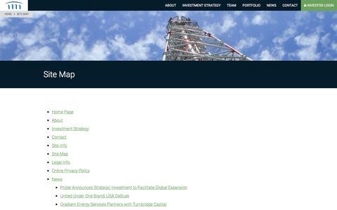 Screenshot of Site Map Page turnbridgecapital.com - Site Map - Turnbridge Capital Partners - captured Oct. 27, 2017