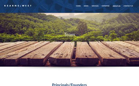 Screenshot of About Page Team Page kearnswest.com - Team   Kearns & West - captured Sept. 20, 2018