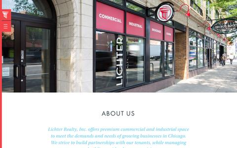 Screenshot of About Page lichterrealty.com - About Us — Lichter Realty - captured Nov. 7, 2016