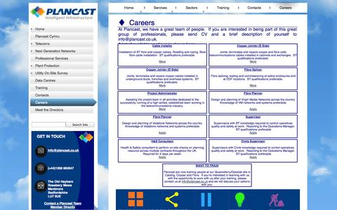 Screenshot of Jobs Page plancast.co.uk - Careers - captured Sept. 30, 2014
