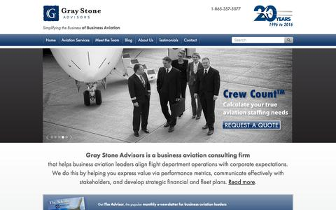 Screenshot of Press Page graystoneadvisors.com - Business Aviation Consulting Firm | Bizav Advisors  | Gray Stone Advisors - captured July 22, 2018