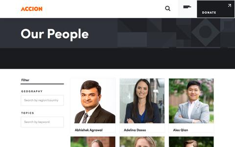 Screenshot of Team Page accion.org - Our People | Accion - captured Sept. 23, 2018