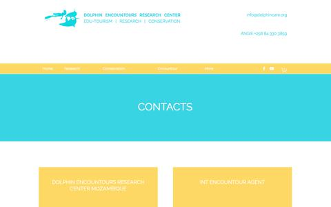 Screenshot of Contact Page dolphincenter.org - Contact | BUSINESS NAME - captured Jan. 27, 2018