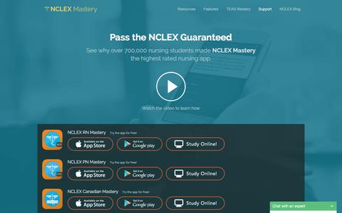 Screenshot of Contact Page Support Page nclexmastery.com - NCLEX Mastery Feedback and Support - captured Nov. 17, 2015