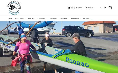 Screenshot of Home Page oceansideoutrigger.org - Oceanside Outrigger Canoe Club - captured April 7, 2017