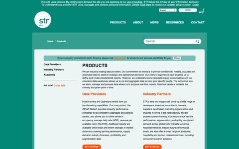 Screenshot of Products Page strglobal.com - STR Global - captured Oct. 21, 2018