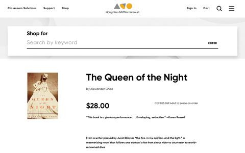 Order The Queen of the Night, ISBN: 0618663029 | HMH