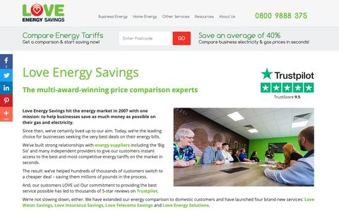 Screenshot of About Page loveenergysavings.com - About Love Energy Savings - captured Feb. 10, 2019