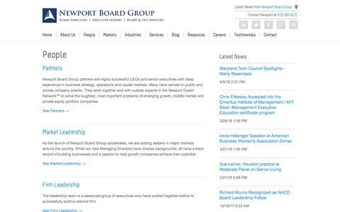 Screenshot of Team Page newportboardgroup.com - Newport Board Group   People   Newport Board Group Firm Leadership - captured Sept. 21, 2018