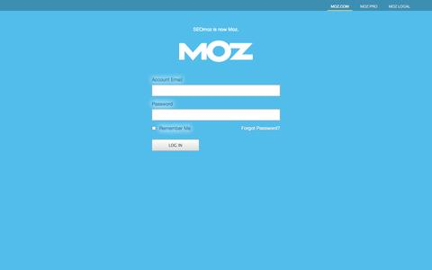 Screenshot of Login Page moz.com - Login - Moz - captured Sept. 16, 2014