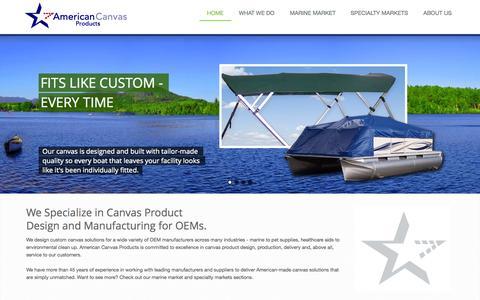Screenshot of Home Page americancanvasproductsinc.com - American Canvas Products, Inc. - captured Sept. 30, 2014