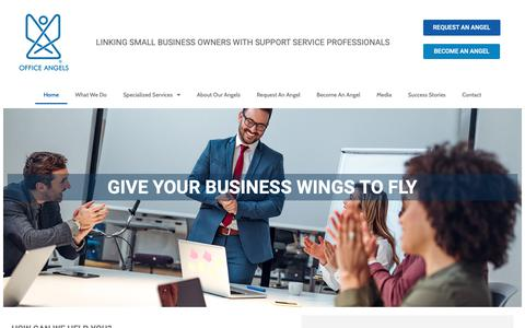 Screenshot of Home Page officeangels.us - Office Angels | We give your business wings to fly! - captured Nov. 17, 2018