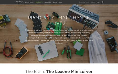 Screenshot of Products Page loxone.com - Overview - Loxone - captured June 23, 2017