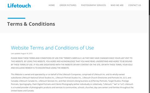 Terms & Conditions - Lifetouch Inc.