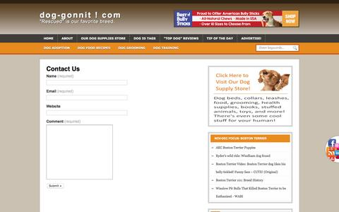 Screenshot of Contact Page dog-gonnit.com - Contact Us | dog-gonnit ! com - captured Jan. 31, 2017