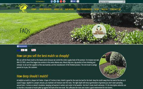 Screenshot of FAQ Page 404cuttree.com - FAQs  Atlanta Tree Removal Services by 404-CUT-TREE Company | Cheap Tree Trimming | Certified Arborists | Emergency Tree Removal |  Atlanta Tree Cutting Services  | Tree Pruning | Tree Services Atlanta GA | Sandy Springs | Decatur | Roswell | Alphare - captured Feb. 24, 2016