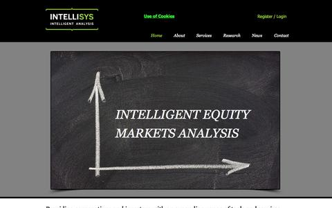 Screenshot of Home Page intellisys.uk.com - Intellisys Intelligent Analysis - equity market - captured Oct. 6, 2014