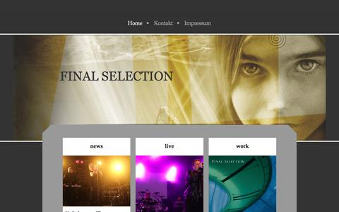 Screenshot of Home Page final-selection.de - final selection - Home - captured Jan. 21, 2017