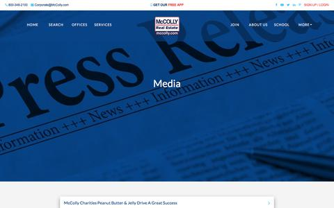 Screenshot of Press Page mccolly.com - New Press Releases | McColly Real Estate - captured Sept. 24, 2018