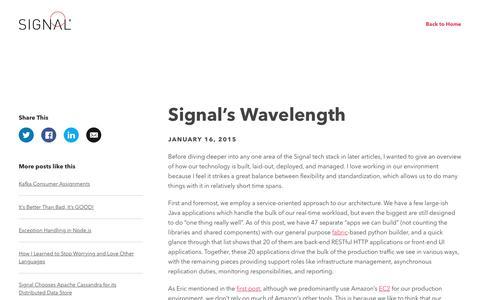 Signal's Wavelength - Signal
