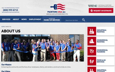 Screenshot of About Page paintersusainc.com - About Us | Painters USA - captured Dec. 30, 2016